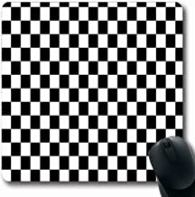Mousepads Brown Pattern Black White Squares Checkerboard Tan Board Chess Diner Floor Retro Design Aged Oblong Shape Non Slip Gaming Mouse Pad Rubber Oblong Mat,Rubber Mat 11.8
