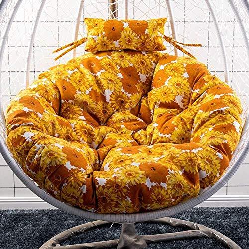 J-Kissen Stuhlkissen Pads Kein Stuhl, Hängesessel Schaukel Sitzkissen, Nest Stuhl runde Auflage Wiege-Kissen mit Kissen (Color : V, Size : 105cm(41inch))