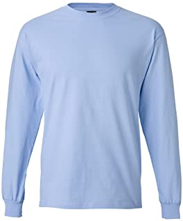 Hanes Men's Beefy-T Long-Sleeve T-Shirt,X-Large,Light Blue