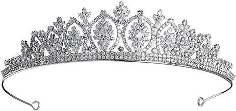 Miallo Prom Crown CZ Crystal Pageant Queen Tiara Bridal Wedding Headpiece Women Hair Jewelry (TS-J2506)