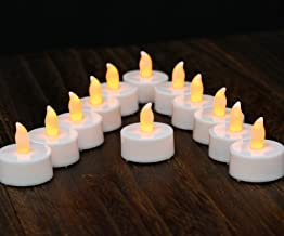 Tea Lights LED Tea Light Candles 100 Hours Pack of 12 Realistic Flickering Bulb Battery Operated Tea Lights for Seasonal F...