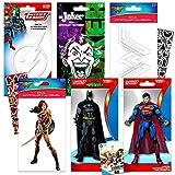 DC Comics Justice League Decals Bundle Superhero Party Favors -- 6 Premium DC Superhero Decal Stickers for Laptop, Cars, Macbooks, Water Bottles, Walls, and More (Batman, Superman, Joker, Wonder Woman, Harley Quinn, Flash)