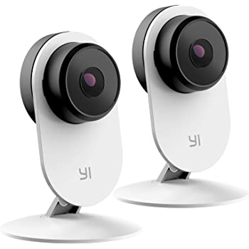 YI 2pc 1080p HD Indoor Wireless Smart Home Camera 3, AI-Powered with Night Vision, 2-Way Audio, Human Detection, Sound Analystics, Phone/PC APP, Works with Alexa & Google Assistant