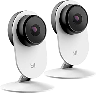 YI 2pc Camaras de Vigilancia WiFi Interior Home 3 1080p Full