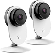 YI 2pc Smart Security Camera 3, AI-Powered 1080p Home Camera System IP Cam with 24/7 Emergency Response, Human Detection, Sound Analystics, Night Vision, 2.4G Wi-Fi, App for Nanny Monitor
