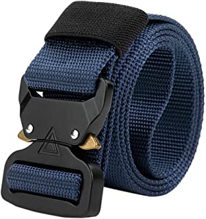 MEANIT Men's Tactical Belt Heavy Duty with Quick Release Metal Buckle - Nylon Heavy Duty Everyday Belt