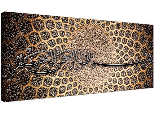 Bismilliah/Leinwandmit moderner, islamischer, arabischer Kalligraphie von Wallfillers®, 120cm breit, 1276