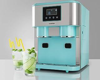 KLARSTEIN Eiszeit Crush - Machine à glaçons 3 en 1: glaçons, glace pilée, eau glacée, 2 tailles de glaçons, 15-18 kg / 24h...