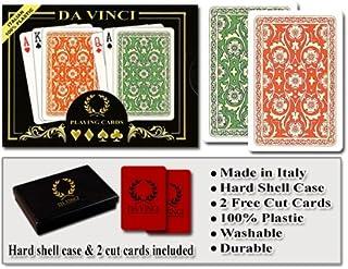 DA VINCI Venezia, Italian 100% Plastic Playing Cards, 2-Deck Bridge Size Regular Index..