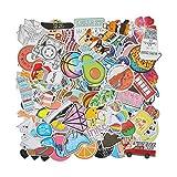 EKKONG 100PCS Graffiti Autocollants Pack, Cartoon Vsco Stickers Vinyles Imperméables pour Ordinateur Portable, Voitures, Moto, Vélo, Planche à roulettes, Valise (Vine)