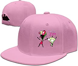 Invader Gir And Zim Flat Along Baseball Cap
