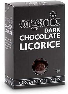 Organic Times Organic Dark Chocolate Coated Liquorice Packet, 150 g