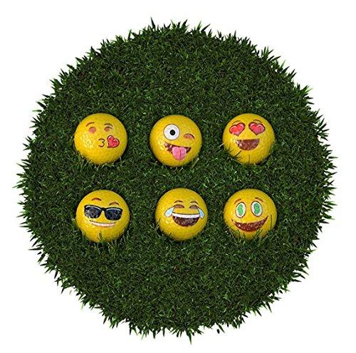 emoji golf balls on artificial green