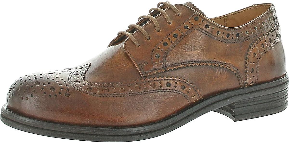 Vince Camuto Mens Corten Leather Wingtip Oxfords Brown 8.5 Medium (D)