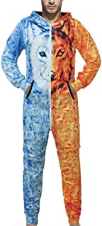 Men Family 3D Printed Jumpsuit Adult Sleepwear Nightwear Romper