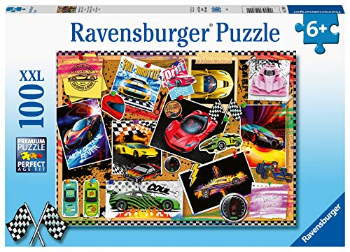 Ravensburger 128990 Puzzel Prikbord Met Raceauto's - Legpuzzel - 100 Stukjes