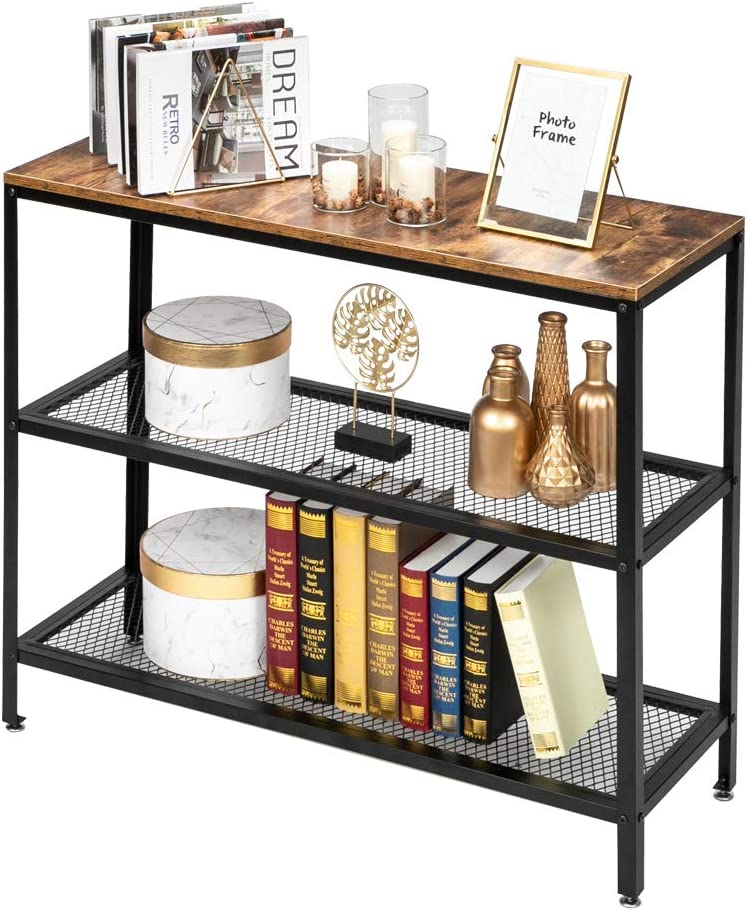 Max Max 51% OFF 81% OFF Rustic Sofa Table with Shelf Hallway Console Industrial T