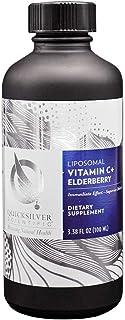 Quicksilver Scientific Liposomal Vitamin C + Elderberry - Immune Support Liquid Elderberry Supplement with Vitamins C + E ...