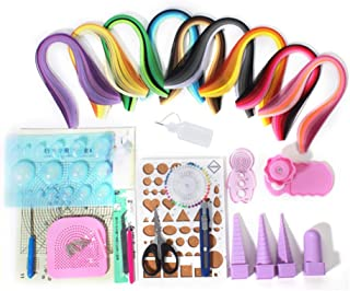 YURROAD Paper Strips Quilling Tools Kit, 18 Kinds Tools and 900 Strips Paper All-in-one
