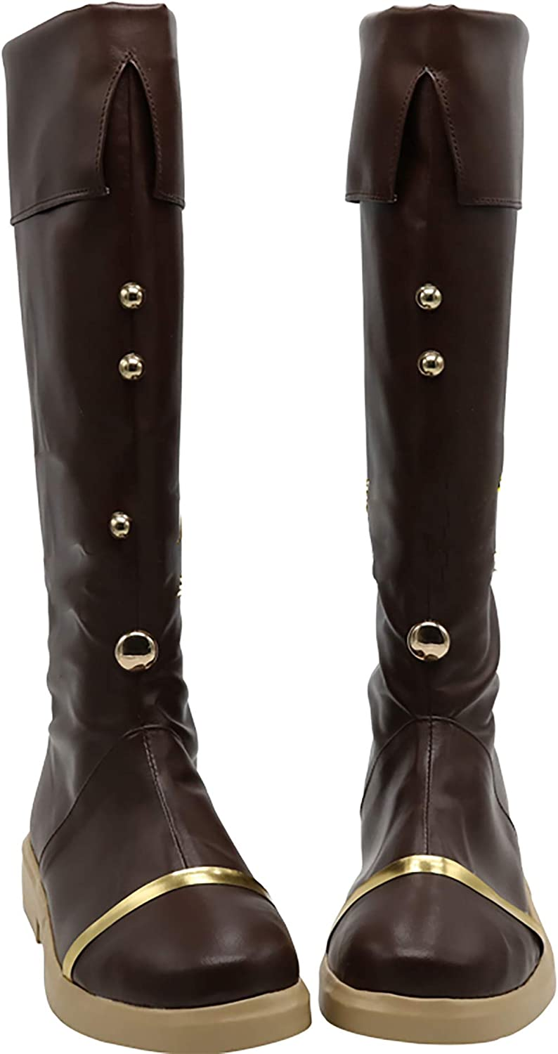 GSFDHDJS Cosplay Boots shoes for Kantai Collection Mighty W brown