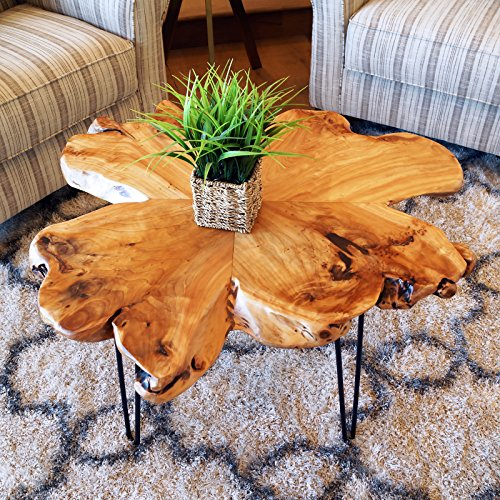 WELLAND Natural Edge Coffee Table, (Style D)