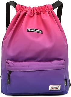 IVIM Waterproof Drawstring Bag, Gym Bag Sackpack Sports Backpack for Men Women Girls