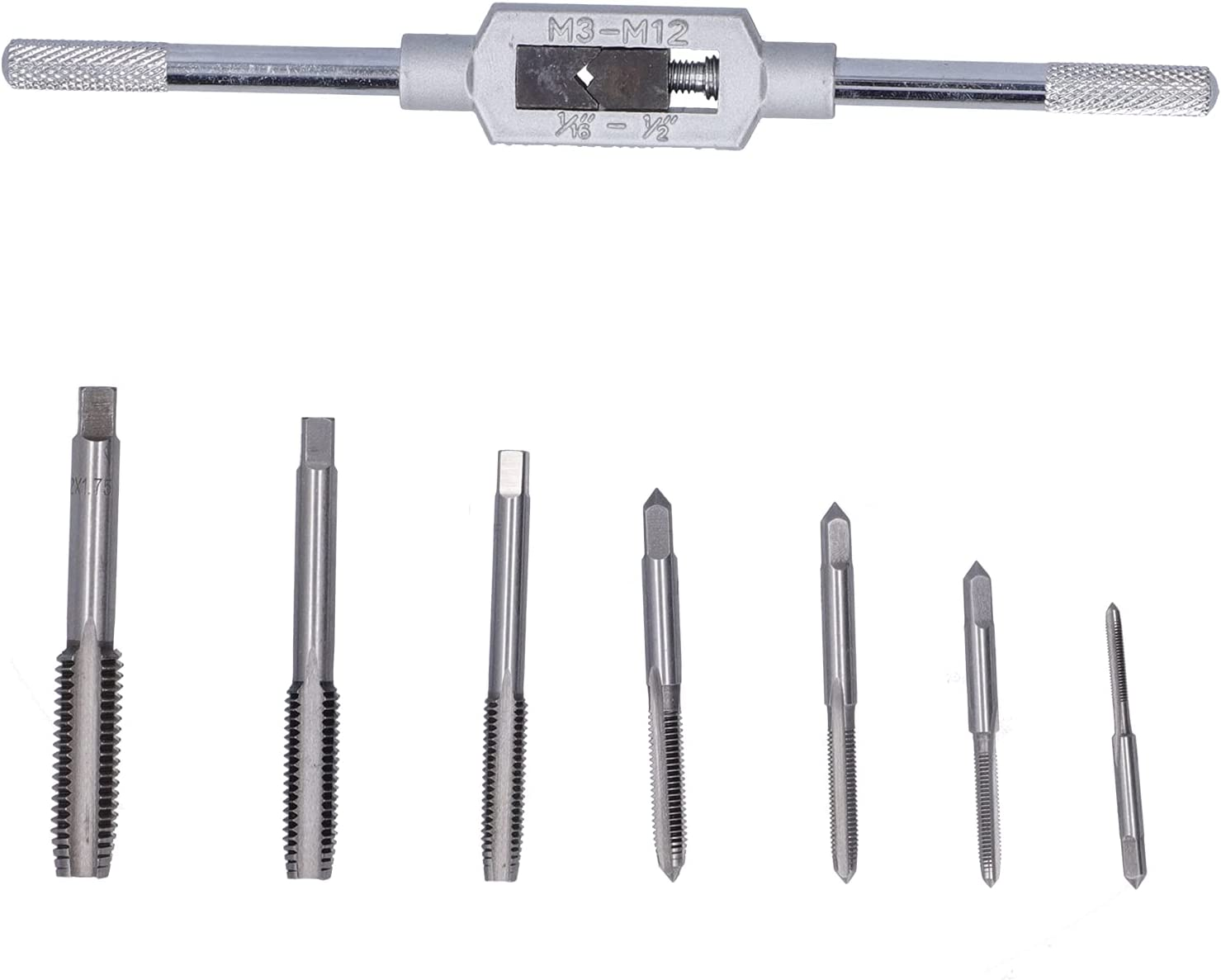 Zyyini 8Pcs Tap Die Set Wrench ans d Tools + 7 Over Virginia Beach Mall item handling ☆ Hardware