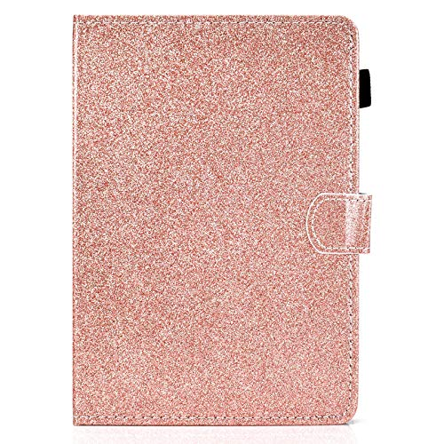 JIan Ying Case for iPad Air/Air 2/iPad 9.7 (2017)/(2018) colorful Lightweight Protective Cover Rose gold glitter