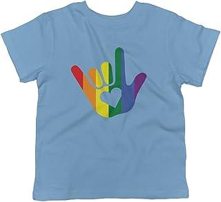 ASL I Love You LGBTQ Pride Sign Language Toddler T-Shirt