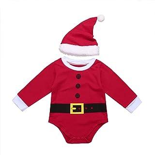Peleles Navidad Bebé Niño Niña Recién Nacido Mono Body Infantil Manga Largo Ropa Invierno Fiesta Conjunto Trajes de Santa Mameluco Algodón Christmas Romper