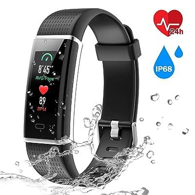 CHEREEKI Fitness Trackers, Heart Rate Monitor A...
