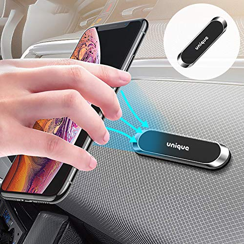 UniqueSpirit車載ホルダーマグネットスマホホルダーコンパクト車/キッチン/冷蔵庫/職場いろんな場所で活用スマホ固定磁石強力片手粘着落下防止便利グッズプレート付く