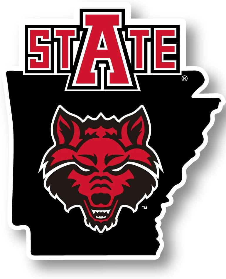 Tucson Mall R and Imports Arkansas State Vinyl Wolves Red Decal-NCAA NEW before selling