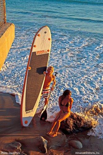 Advanced Elements AE1010 - Tabla de Surf, Color Blanco/Naranja 2