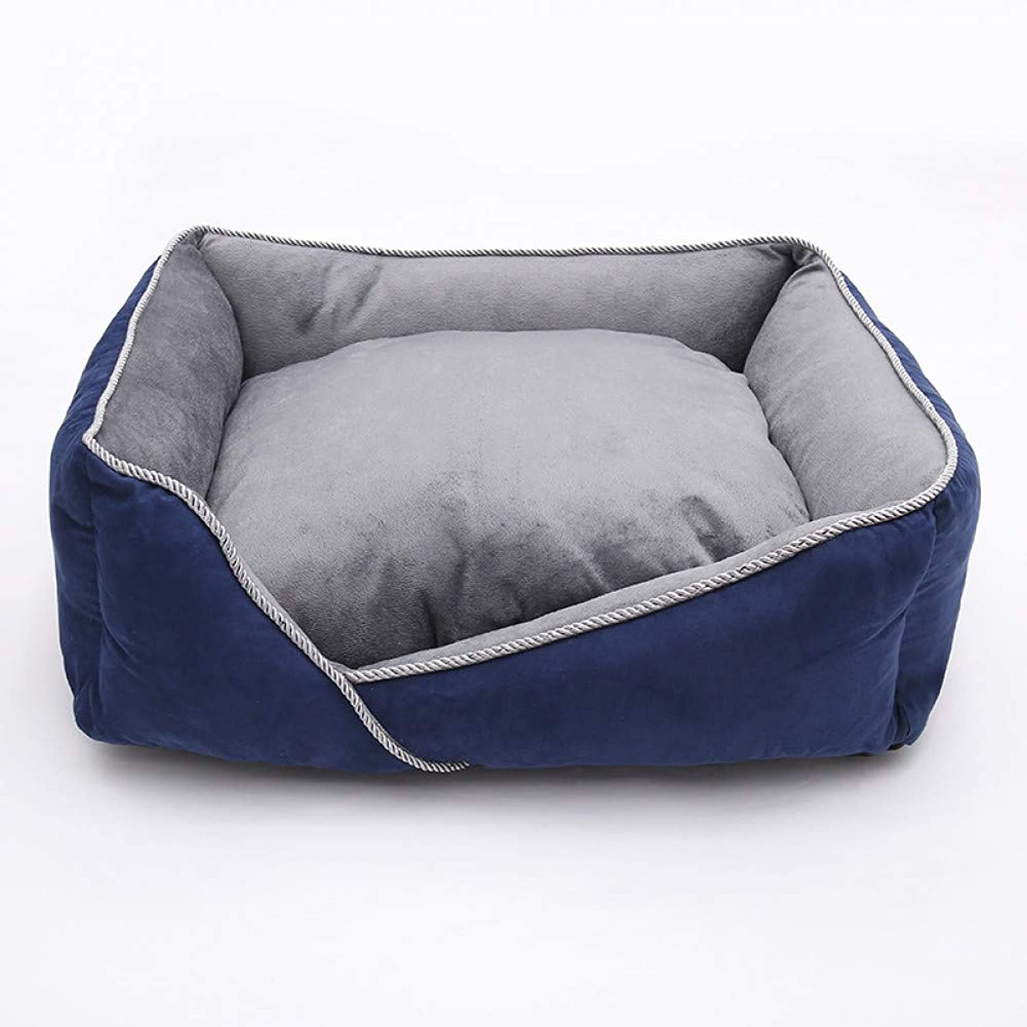 Dog Beds Warm Sofas Removable Cushion Soft Cotton Fleece Dog Bed Kennel Cage Labrador Teddy Beds