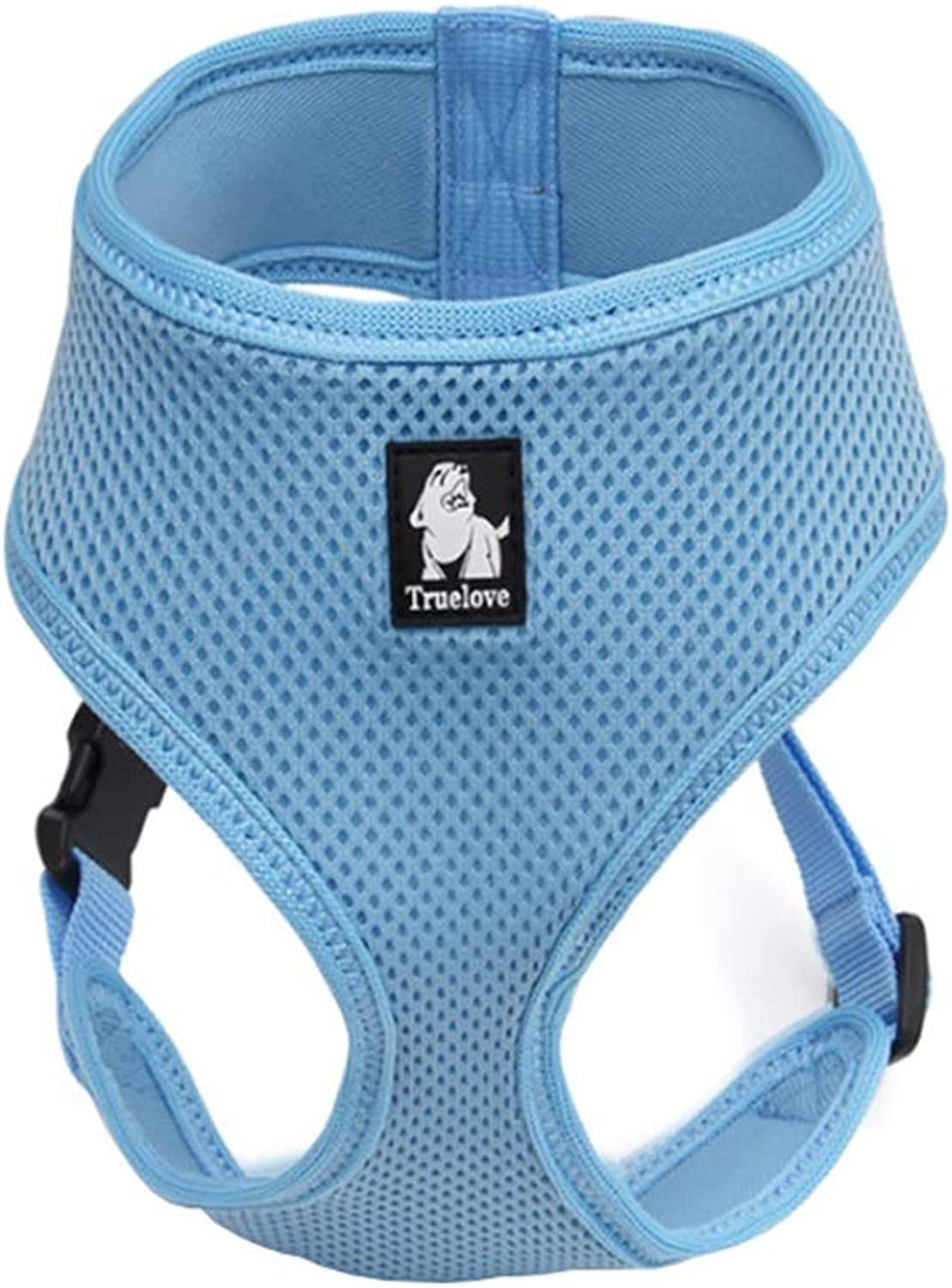 Dog Vest Harness, NoPull Adjustable Chest Strap Cat Supplies Pet Buffering Comfortable Breathable Harness for Teddy Medium Large Dogs (color   bluee, Size   S)