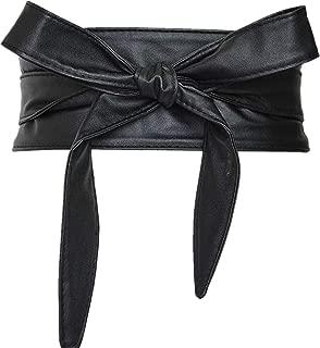 Women's PU Leather Obi Belt Cityelf Wrap Around Cinch Boho Band