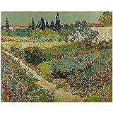 zkpzk Vincent Van Gogh Garden At Arles Art Print Poster Arte De La Pared Imágenes Murales Pinturas ...