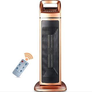 Calentador De Torre De Cerámica con Control Remoto Calentadores Eléctricos Verticales para El Hogar Oficina Gire Ahorro De Energía Calentador De Silencio 2000W 220V Dorado