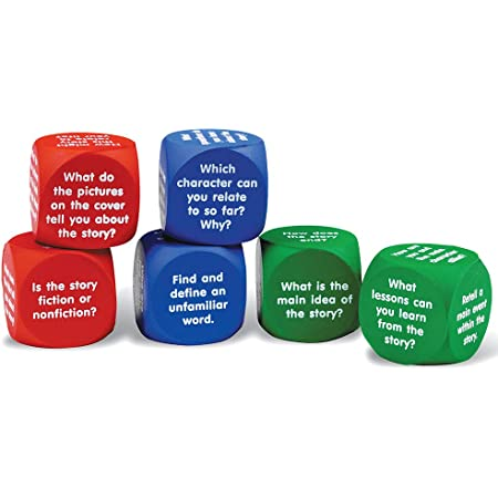 Teacher Created Resources 20634 Foam Reading Comprehension Cubes