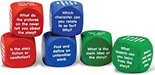 Learning Resources Reading Comprehension Cubes, Phonics Toy, 6 Colored Foam Cubes, Ages 6+