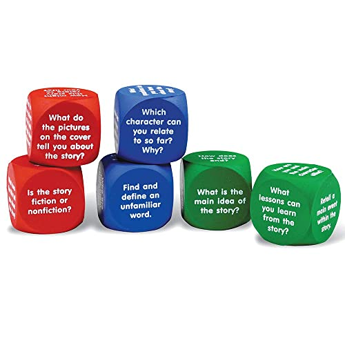 Learning Resources Reading Comprehension Cubes, 6 Colored Foam Cubes, Ages 6+, Multi-color