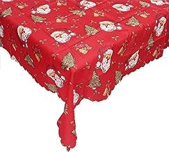 laamei Manteles de Navidad, Mantel de Mesa Rectangular Antimanchas Vintages Manteles Estampados para Comedor Cocina Casa Hotel Restaurante de Navidad, 140cmx180cm