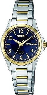 ساعة كوارتز بعرض انالوج وسوار من الستانلس ستيل للنساء من سيتيزن - EQ0595-55L