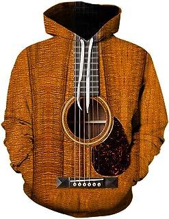 Chitarra elettrica e Heartbeat Felpa con Cappuccio Regalo Musicista