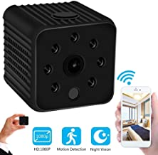 GXSLKWL Mini Spy Camera Wireless Hidden HD 1080P Spy Camera with Audio, WiFi Nanny Cam Built-in Battery with Night Vision ...