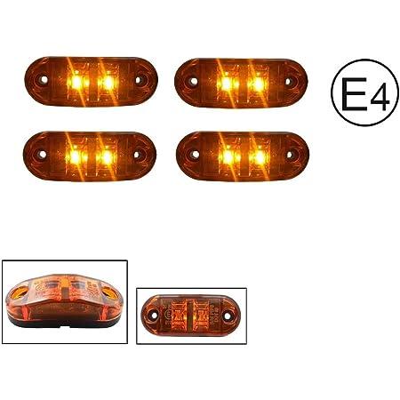 A1 4x Led 12v Gelb Orange Begrenzungsleuchte Umrissleuchte Positionsleuchte Seitenmarkierungsleuchte Lkw E Prüf E9 Auto