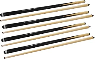 ISPIRITO Pool Cues 2-Piece 58 Inch House Bar Billiard Cue Sticks 13mm Glue-on Tips Hardwood Wooden Cues Set of 2 / Set of 4