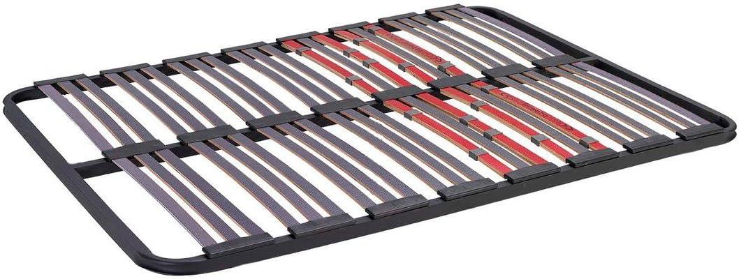 Bonitex - Somier multiláminas 135x190cm (sin patas) con REGULADORES LUMBARES, FIRMEZA ADAPTABLE, TUBO 40x30MM y LÁMINAS de HAYA natural ...
