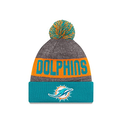 100% authentic 99f15 45c36 Miami Dolphins New Era 2016 NFL Sideline On Field Sport Knit Hat - Aqua Cuff